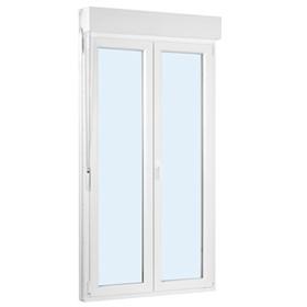 Puerta balconera pvc 2 hojas oscilobatiente con persiana - Puerta balconera aluminio ...
